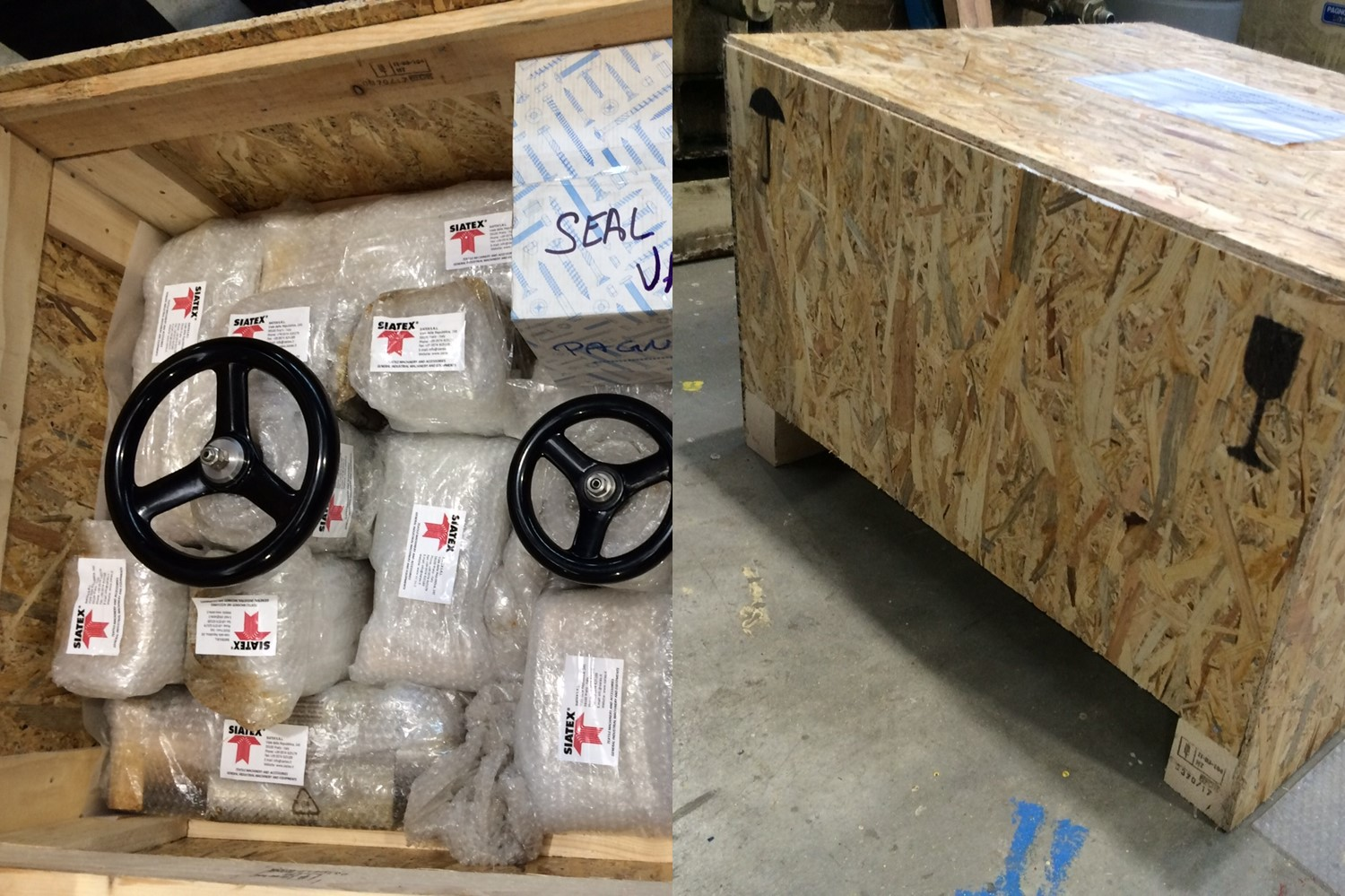 3.shipment wooden box_spare parts for chipwood plant