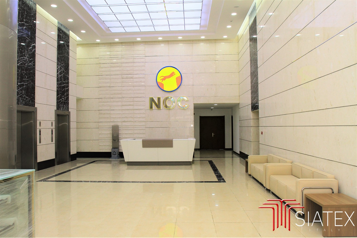 2.office furniture project_entrance reception_sofa_signage (1)