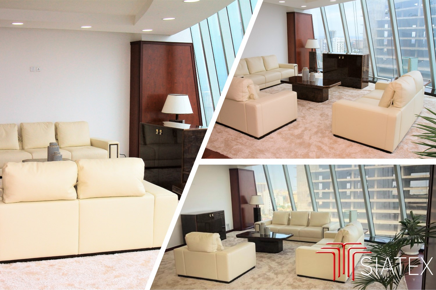 3.office furniture project_luxury ceo sofas