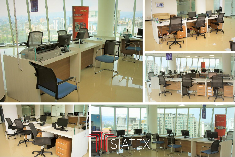6.office furniture project_customer service custom made desks
